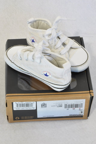All Stars Size 4 Soft Sole White Shoes Unisex 12-18 months