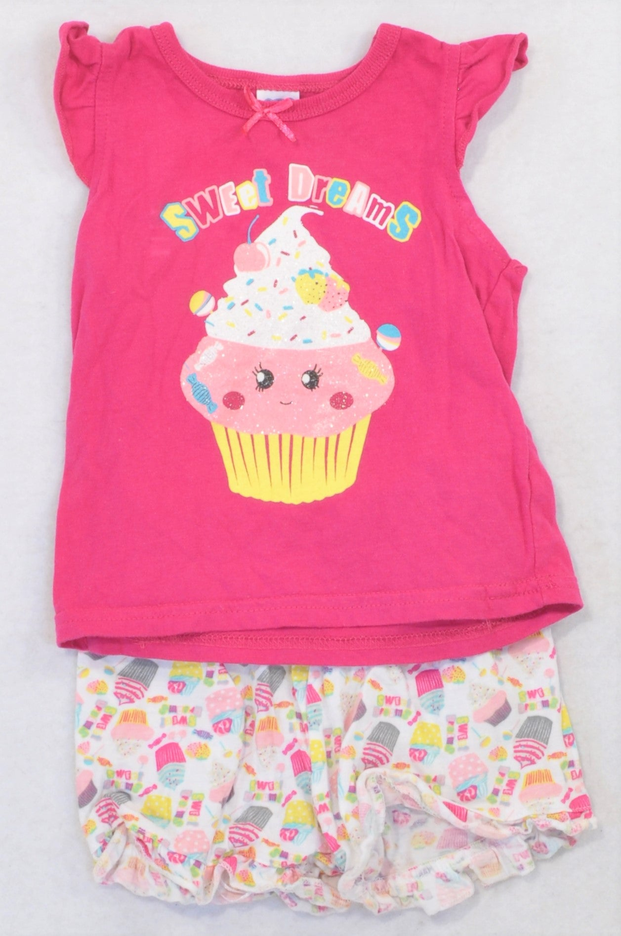 Ackermans Pink & Multi Sweet Dreams Summer Pyjamas Girls 3-6 months