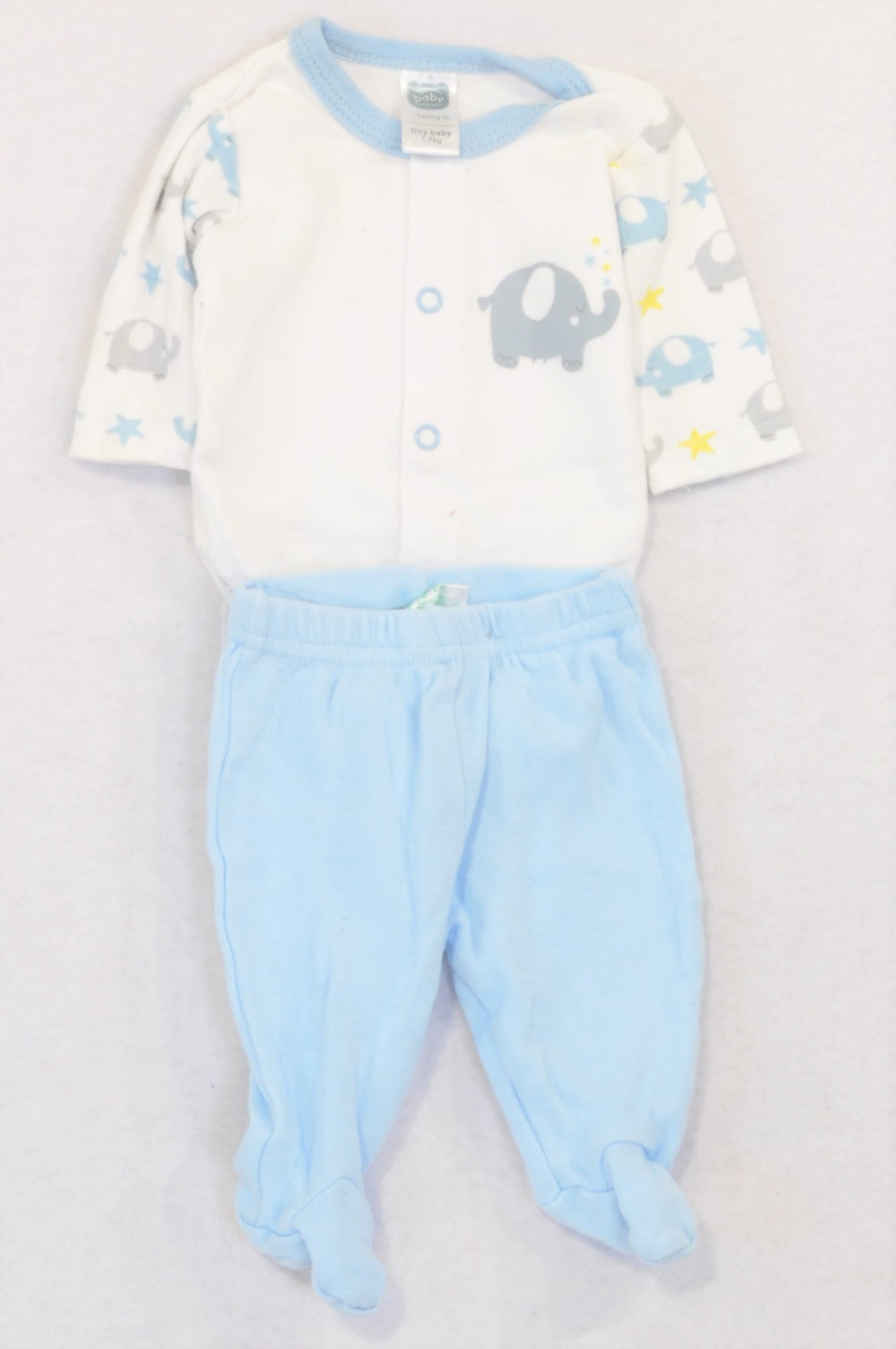 Ackermans Blue Ellie Footed Leggings Outfit Boys Tiny Baby