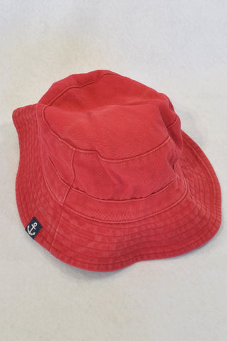 Unbranded Red Ribbed Sun Hat Unisex 6-18 months