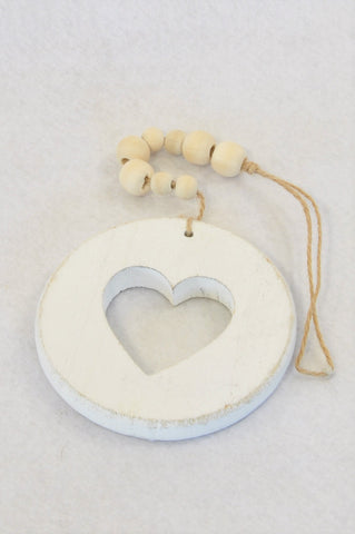 Unbranded Wooden Heart Beaded Decor Unisex N-B to 2 years