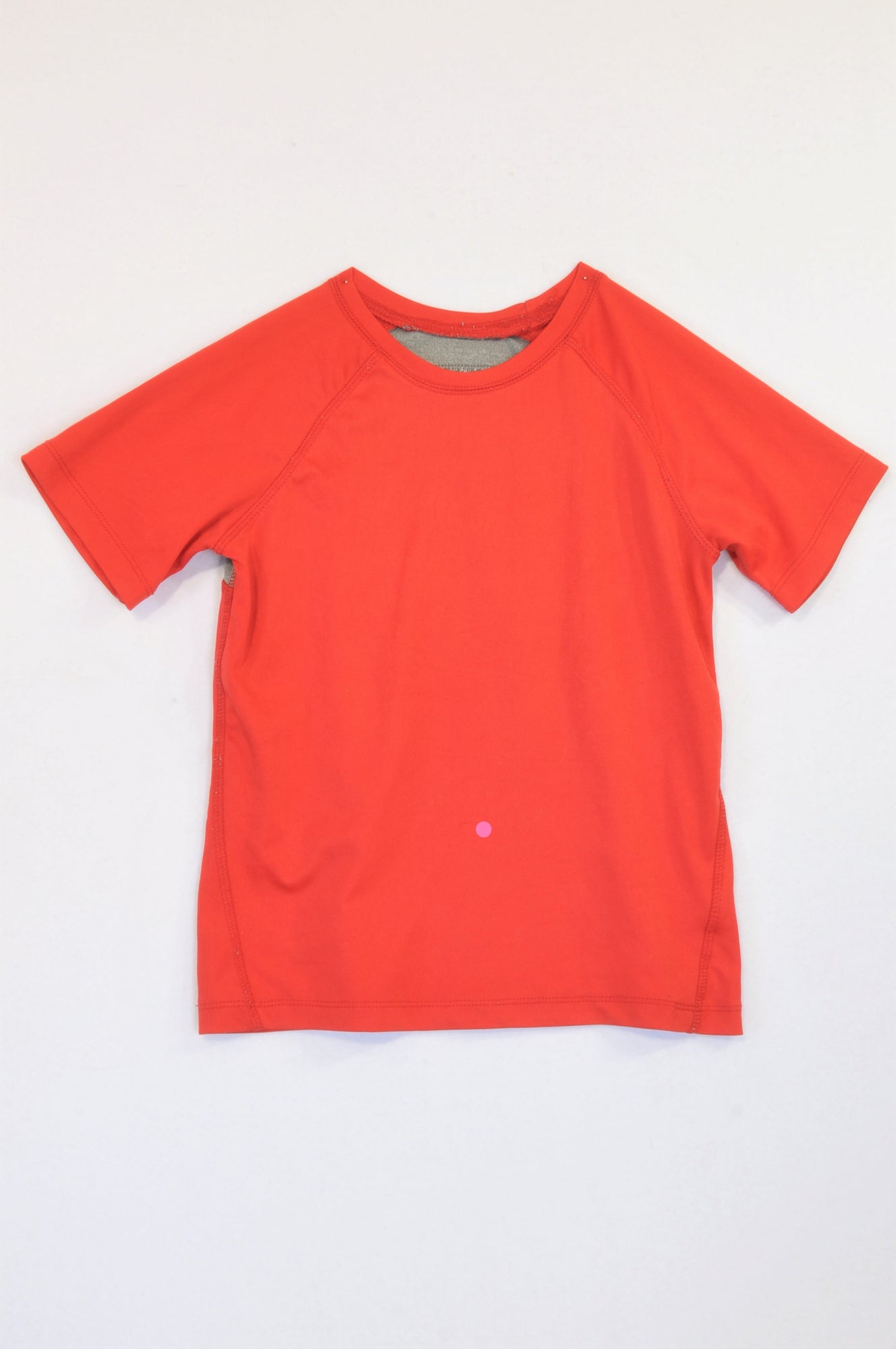 Pick 'n Pay Grey Back Panel Red Sports Top Boys 7-8 years