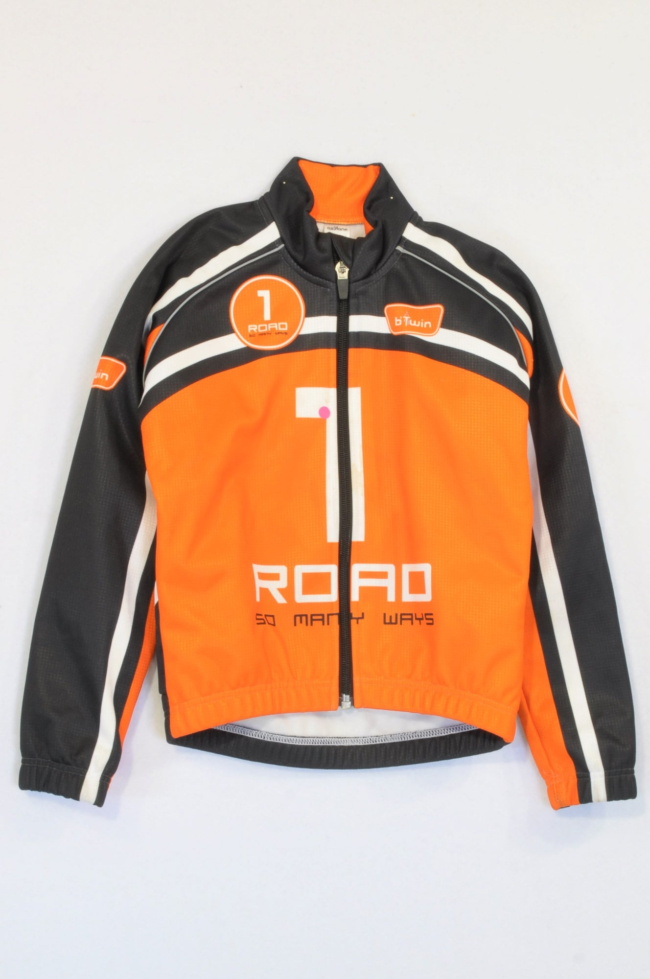 b Twin Orange & Black Cycling 1 Road So Many Way Zip Jacket Boys 5-6 years