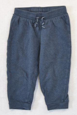 H&M Basic Navy Cuffed Track Suit Pants Unisex 12-18 months