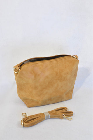 New Composition Raw Leather Look Shoulder Handbag Women