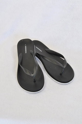 Woolworths Black Tiny Wedge Sandals Women Size 7