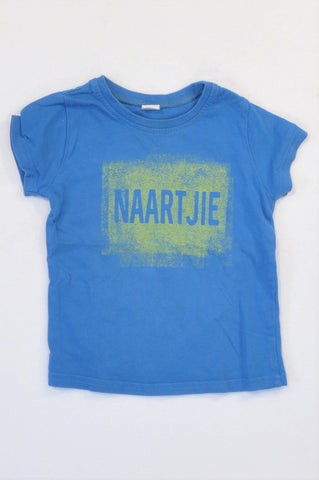 Naartjie Blue Green Logo T-shirt Boys 18-24 months