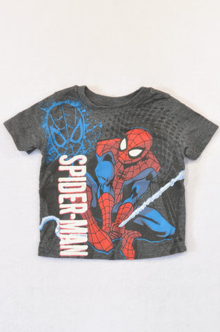 Marvel Grey Spiderman T-shirt Boys 1-2 years