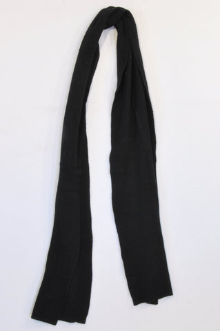 Marks & Spencers Basic Black Knit Winter Scarf Women