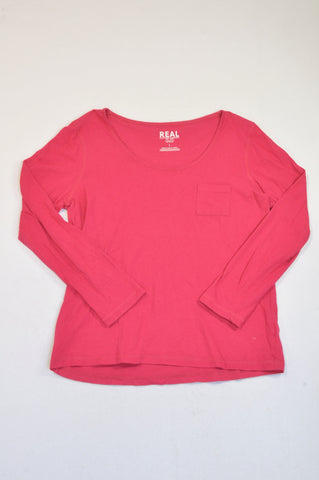 Pick 'n Pay Cerise Pink Long Sleeve T-shirt Women Size L