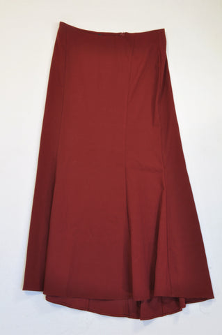 Unbranded Wine Red Pleated Skirt Women Size 36