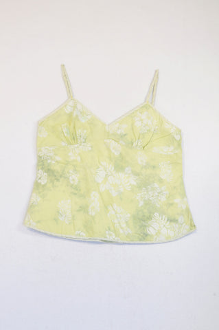 Jeep Green Floral Strappy Tank Top Women Size L
