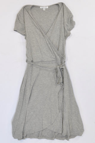 Daily Friday Grey Thin Tie Cap Sleeve Tunic Top Women Size 8