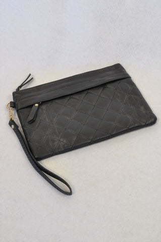 Edgars Black Quilted Clutch Handbag Women