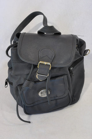 H Classic Small Black Buckle Backpack Women