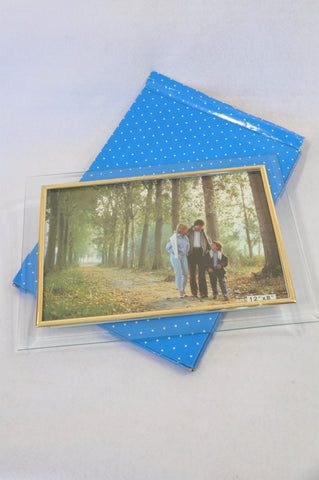 New Unbranded Glass Gold Trim Photo Frame Unisex All Ages