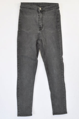 H&M Basic Charcoal High Waisted Jeggings Women Size 28