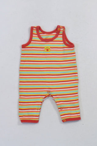 Woolworths Multicolored Striped Romper Unisex 0-3 months