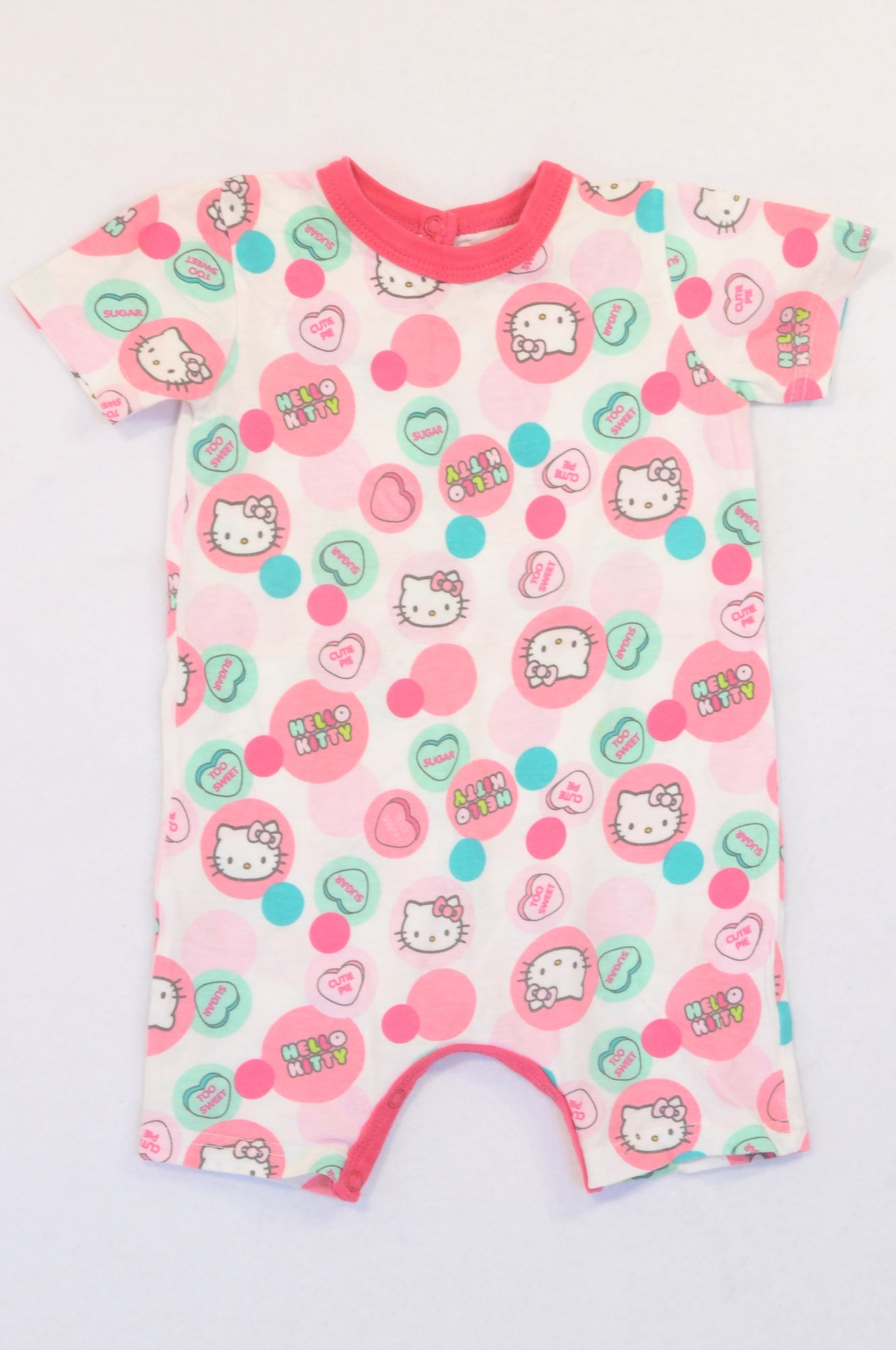 Woolworths Pink Hello Kitty Circle Romper Girls 18-24 months