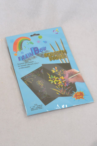 New Unbranded Rainbow Scratch Paper Craft Kit Unisex 3+ years