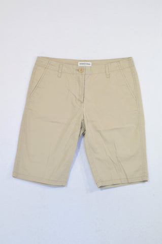 Country Road Basic Beige Chino Shorts Women Size 8