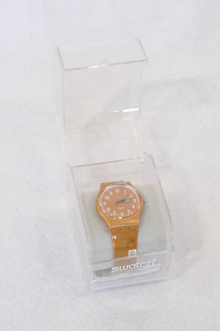 New Swatch Soft Brown Watch Accessory Women