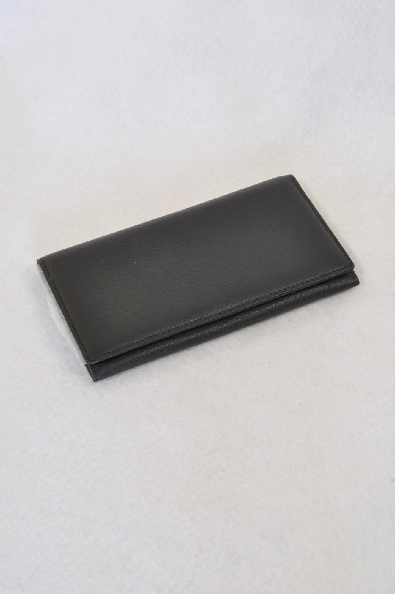 New Unbranded Black Basic Leather Wallet Accessory Women