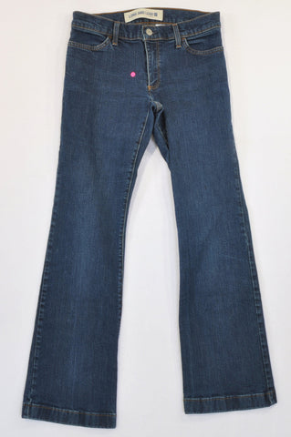 "GAP Dark Wash Bootleg ""Long And Lean"" Jeans Women Size 6"