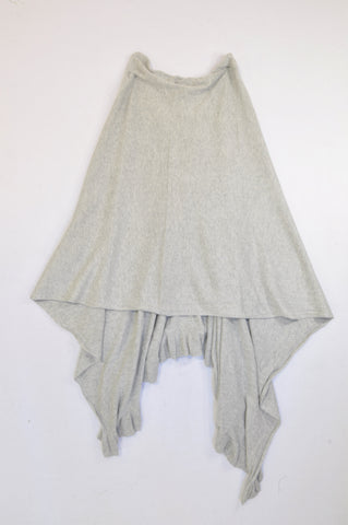 Woolworths Heathered Grey Light Knit Frill Poncho Cardigan Women One Size