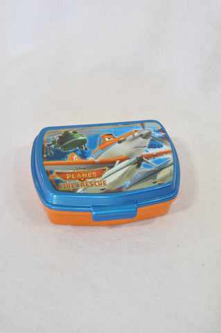 Unbranded Blue & Orange Planes Lunch Box Boys 3-10 years