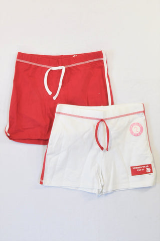 New Next 2 Pack Red & White Play Shorts Girls 13-14 years