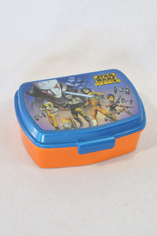 Unbranded Blue & Orange Star Wars Lunch Box Boys 3-10 years