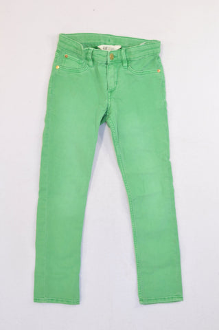 H&M Basic Green Skinny Jeans Girls 7-8 years