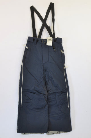 New Next Navy Waterproof Lined Puddle Jumping Pants Boys 7-8 years