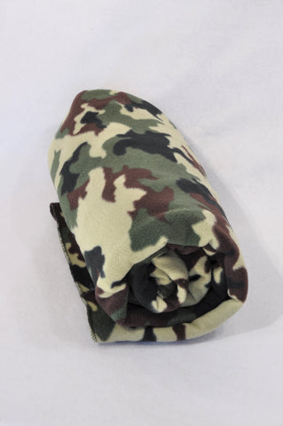 Unbranded Olive Camo Fleece Blanket Boys All Ages