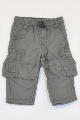 Carter's Grey Cargo Lightweight Pants Boys 3-6 months