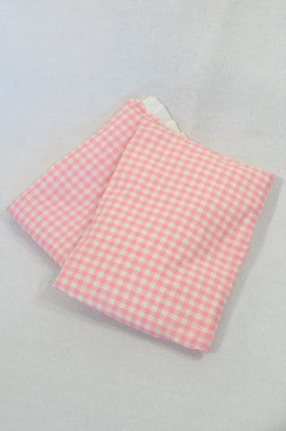 Unbranded Pink & White Check Dolly Pillow & Blanket Girls 2-6 years