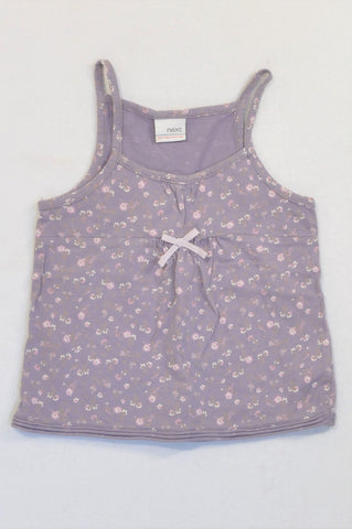 Next Purple Ditsy Flower Strappy Tank Top Girls 3-4 years
