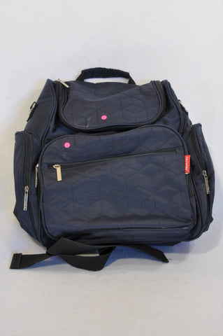 Insular Navy Quilted Multi Functional Nappy Bag Backpack Unisex N-B to 2 years