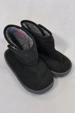 Unbranded Size 3 Black Rubber Sole Boots Unisex 3-4 years