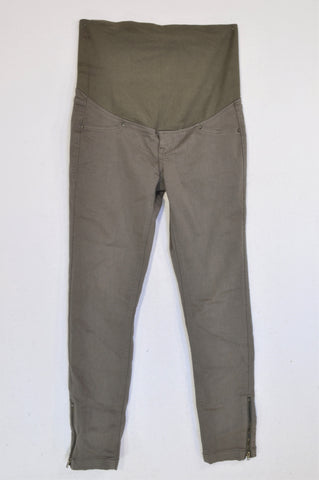 H&M Dusty Olive Maternity Jeggings Size 8