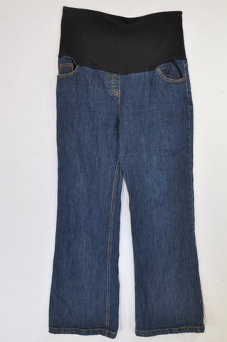Cherrymelon Dark Wash Wide Leg Maternity Jeans Size 40