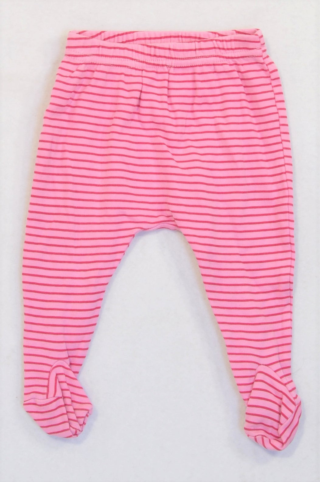 Woolworths Pink & Cerise Footed Leggings Girls 3-6 months