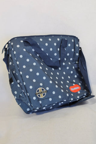 Netcare Navy Dotty Nappy Bag Unisex N-B to 2 years