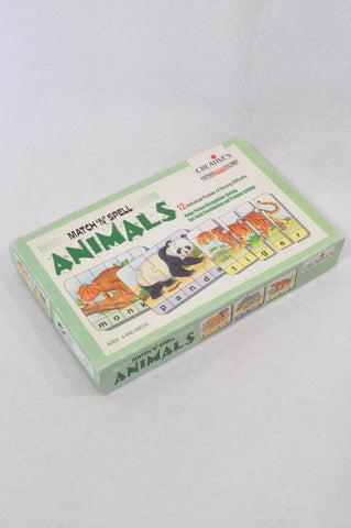 Creative's Match & Spell Animals Puzzle Unisex 3-10 years