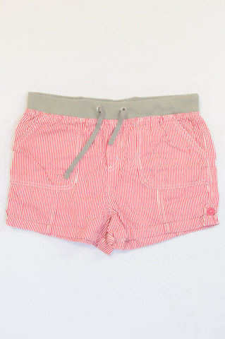 Pick 'n Pay Cerise Pin Stripe Banded Shorts Girls 13-14 years