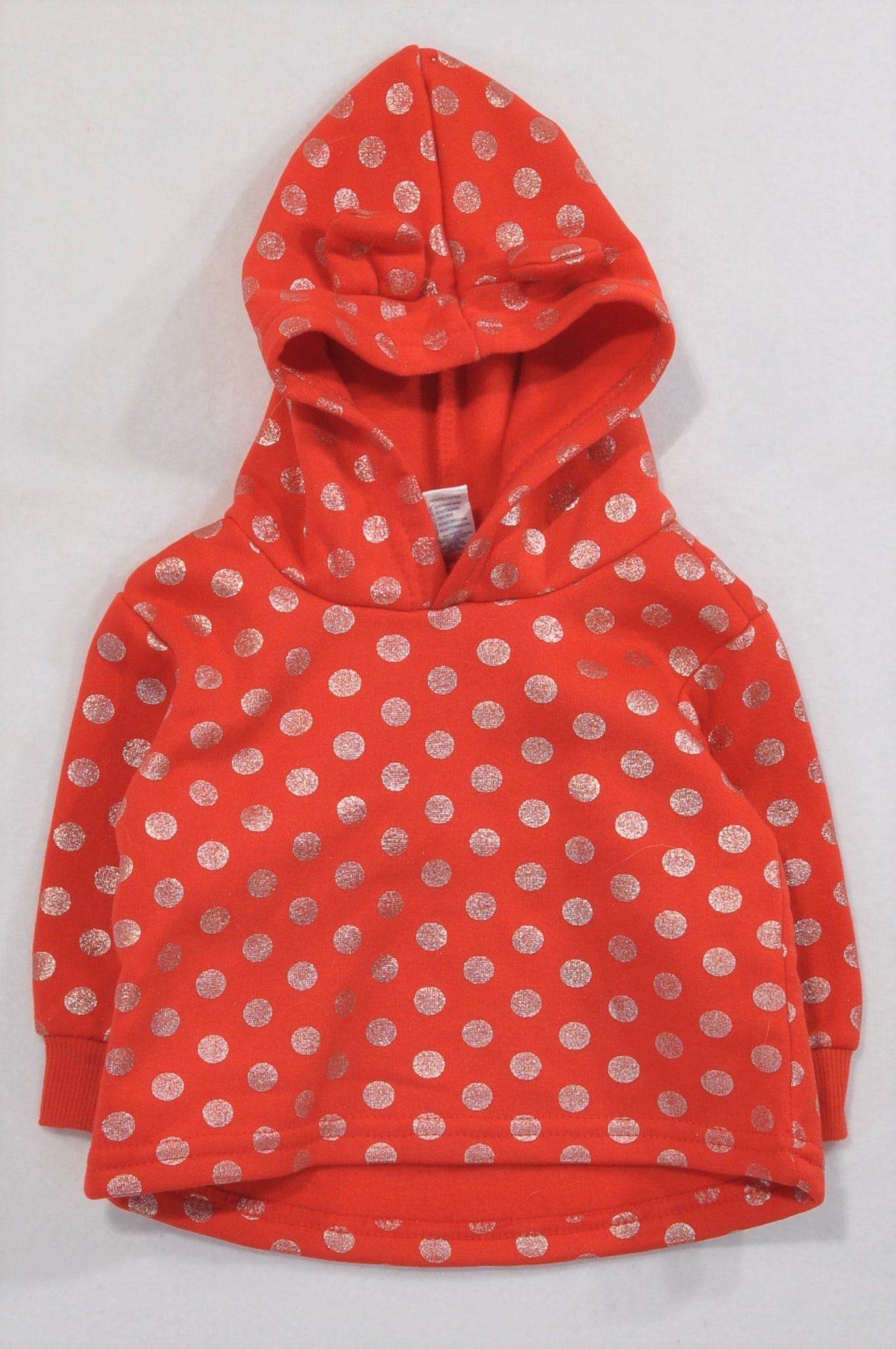 Ackermans Red Gold Dotty Hoodie Girls 3-6 months