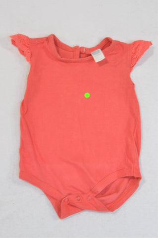 Ackermans Coral Lace Sleeve Baby Grow Girls 3-6 months