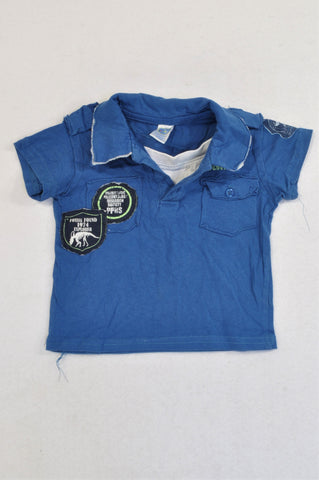 Ackermans Blue Patch T Rex Expedition Golf T-shirt Boys 3-6 months