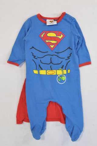 Pick 'n Pay Royal Blue & Red Superman Cape Onesie Boys 3-6 months